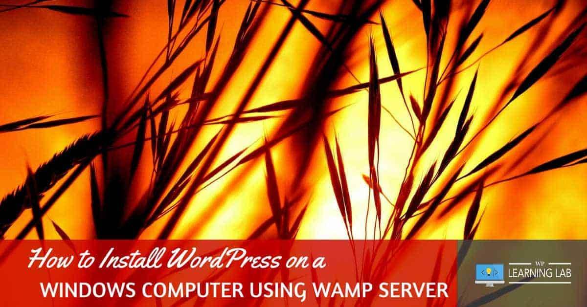 Install WordPress on Windows using WAMP Server