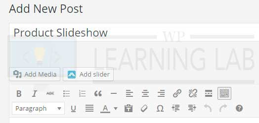 how to add slider in wordpress without plugin