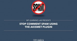 Stop Comment Spam Using The Akismet Plugin