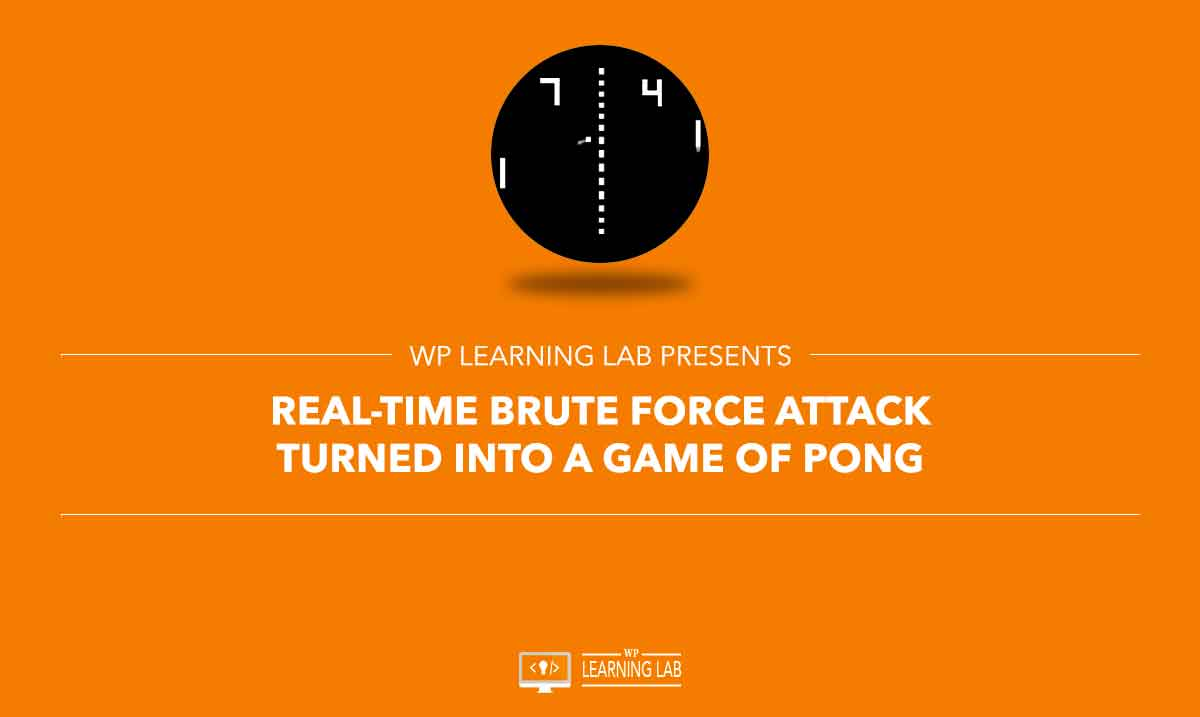 [VIDEO] Real-Time Brute Force Attack Turned Into A Game Of Pong