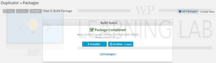 WordPress Duplicator Plugin Build Status