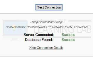 WordPress Duplicator Plugin Test Connection