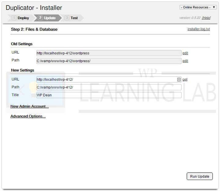 WordPress Duplicator Plugin Installer Update