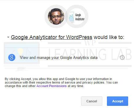 Google Analyticator - Link To Analytics