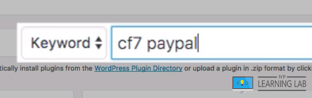 Search For CF7 PayPal
