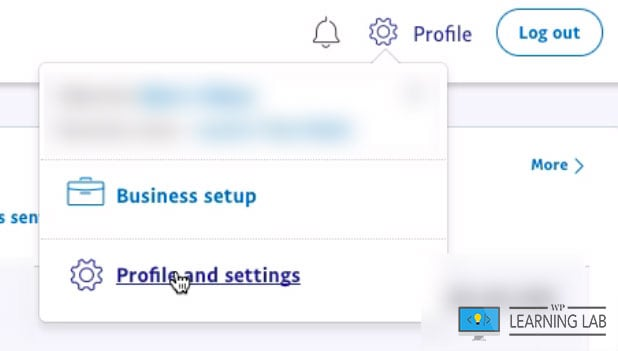 PayPal Settings Page